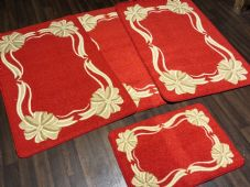 ROMANY GYPSYS WASHABLES 2018 BOWS DESIGN SETS OF 4PC MATS CHRISTMAS RED NON SLIP